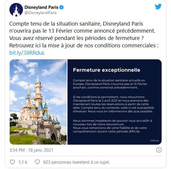 comunicato Disneyland Paris